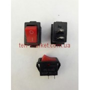 Кнопочный выключатель, Клавиша очень мини, 2 контакта, с фиксацией (красная)