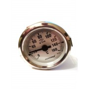Термометр биметаллический Pakkens ø60мм / Tmax=160°С / Длинна капилляра 1м / Турция