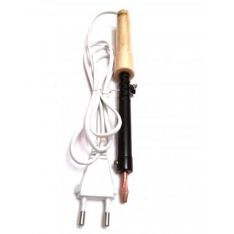 Паяльник электрический ПД40 / 220В-40Вт с деревянной ручкой купить в Украине