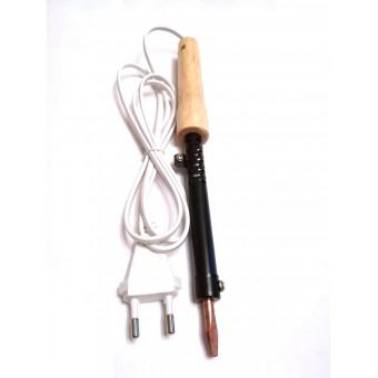 Паяльник электрический ПД65 / 220В-65Вт с деревянной ручкой купить в Украине