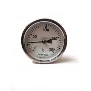 "Термометр биметаллический Pakkens ø63мм / Tmax=200°С / Трубка 100мм / Резьба 1/2"" / Турция"