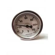"Термометр биметаллический Pakkens ø63мм / Tmax=120°С / Трубка 100мм / Резьба 1/2"" / Турция"