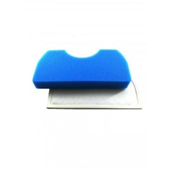 Фильтр для пылесоса Samsung с сеткой / FSM45 синий, с малым круглым вырезом - DJ97-01040A (B/C/D)