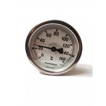 "Термометр биметаллический Pakkens ø63мм / Tmax=160°С / Трубка 100мм / Резьба 1/2"" / Турция купить в Украине"