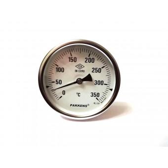 "Термометр биметаллический Pakkens ø100мм / Tmax=350°С / Трубка 100мм / Резьба 1/2"" / Турция купить в Украине"