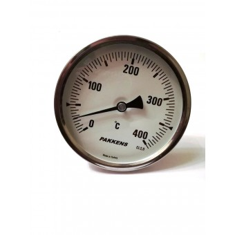 "Термометр биметаллический Pakkens ø100мм / Tmax=400°С / Трубка 100мм / Резьба 1/2"" / Турция купить в Украине"