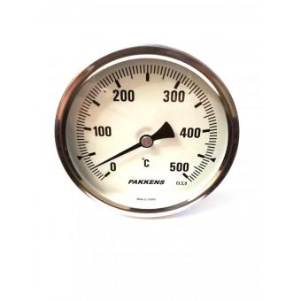 "Термометр биметаллический Pakkens ø100мм / Tmax=500°С / резьба 1/2"" / Турция купить в Украине"