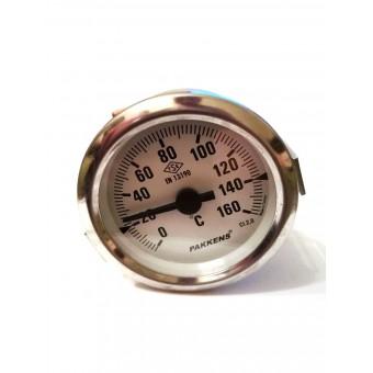 Термометр биметаллический Pakkens ø60мм / Tmax=160°С / Длинна капилляра 1м / Турция купить в Украине