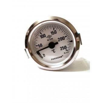 Термометр капиллярный Pakkens ø60мм / Tmax=250°С / длинна капилляра 2м / Турция купить в Украине