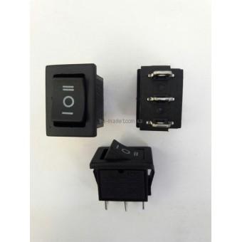 Кнопочный выключатель, Клавиша мини, 3 положения с фиксацией