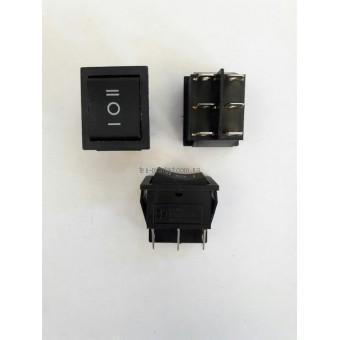 Кнопочный выключатель, переключатель клавишный.  Клавиша широкая (3 положения без и с фиксацией)